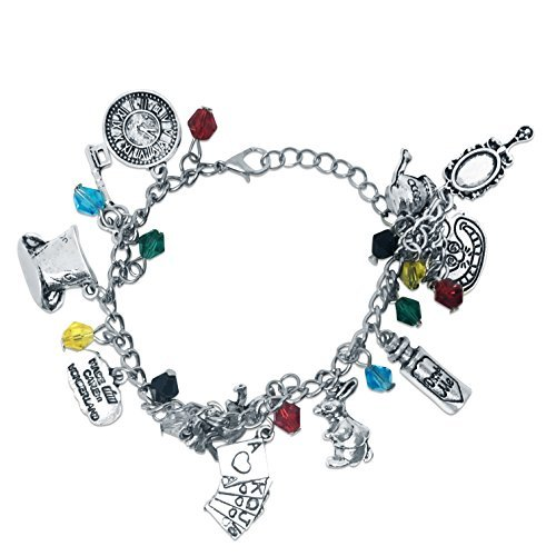 Alice Charm Bracelet with colored beads -
