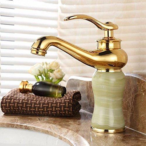 Kokeruup Wasserhahn heiße und kalte Jade Einhand-Einlochbatterie Badezimmer C
