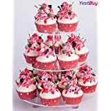 """YestBuy 3 Tier Round Cake Stand (3 Tier Round with Base(4"""" between 2 layers)) ¡"""