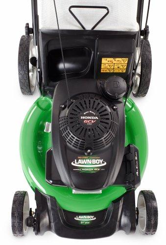 lawn boy     honda cc engine    discharge high wheel push powered lawn