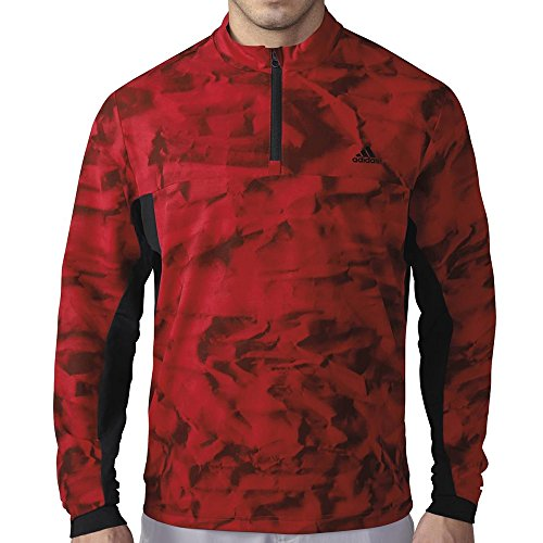 adidas Golf Men's Climastorm Competition Wind Jacket, Red/Black, XX-Large