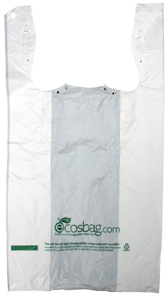 Interplas mb-t-24hd-bio biodegradables bolsas de color blanco T ...