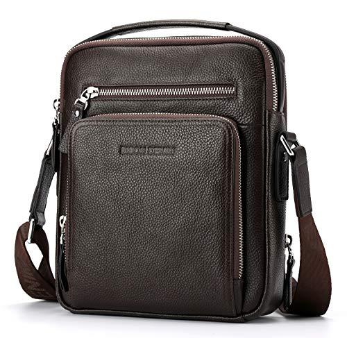 - BISON DENIM Shoulder Bag for Men Genuine Leather Crossbody Bag Vintage Messenger Bag Man Purse