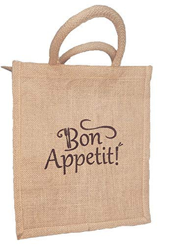 Bon Appetit Unisex Multipurpose Waterproof Jute Lunch Bags
