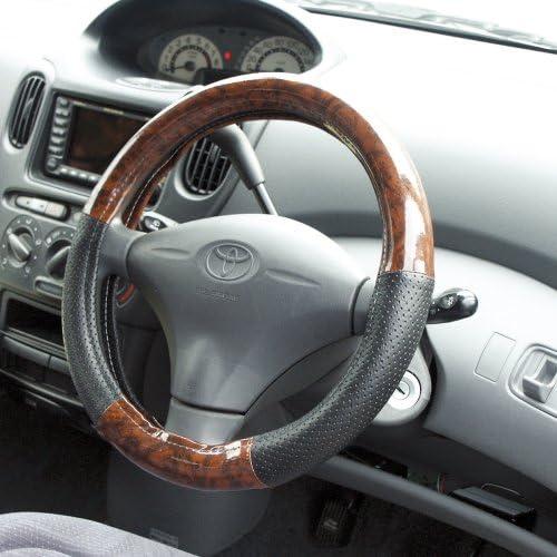 Tsuchiya Yac K-W236 Steering Wheel Cover, Combination with Wood Grain Pattern