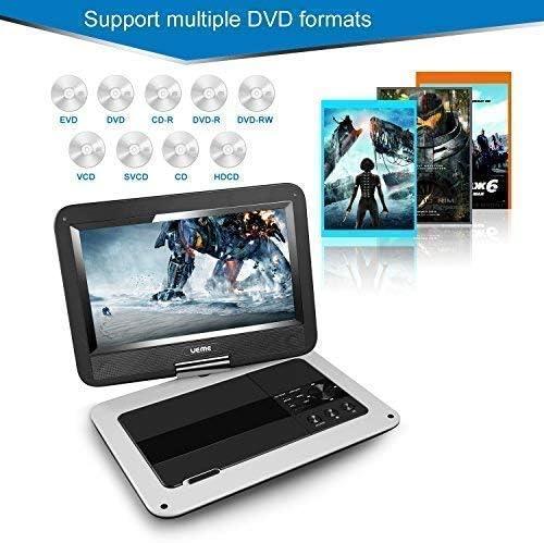 Amazon.com: UEME Reproductor de DVD portátil de 10,1 ...