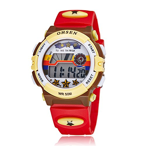 Kids Outdoor Sports Children's Waterproof Wrist Dress Watch Digital Alarm Lightweight Silicone for Boy Girl