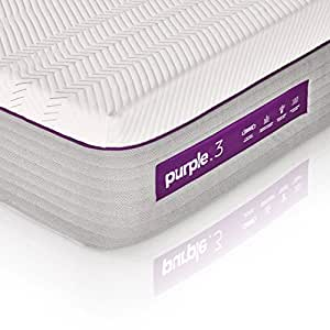 "The New Purple Mattress, with Soft 3"" Smart Comfort Grid Pad and Cooling Comfort-Stretch Cover (Queen)"