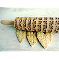 Rolling pin MAPLE LEAVES. Wooden embossing rolling pin. Embossed cookies. Love Canada