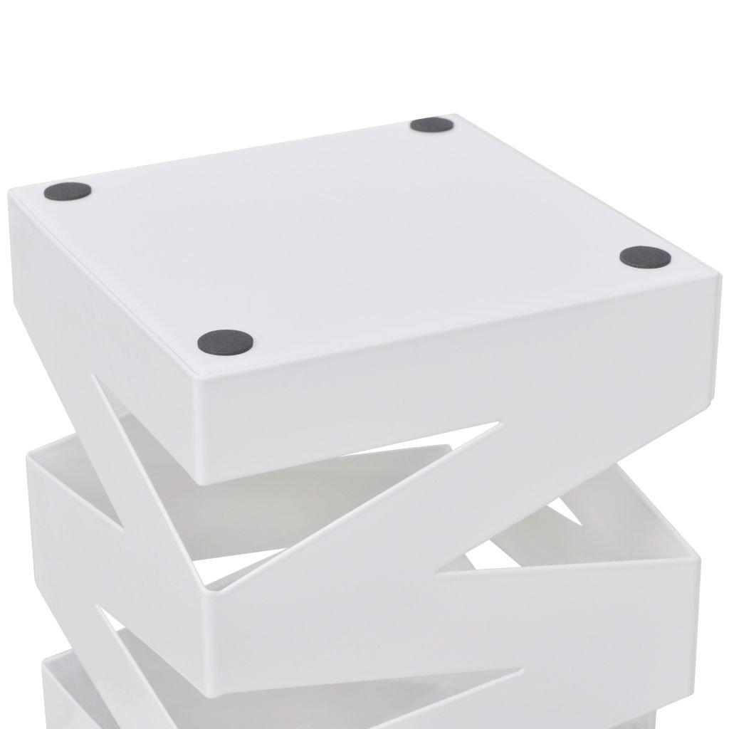 Nishore Schirmhalter Schirmst/änder Gehstock Regenschirmst/änder Stahl Metallst/änder quadratisch 15,5 x 15,5 x 48,5 cm Wei/ß