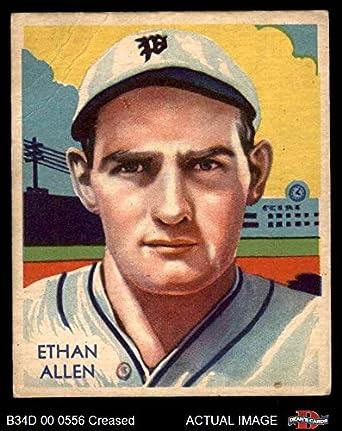 Amazoncom 1935 Diamond Stars 92 Ethan Allen Baseball Card