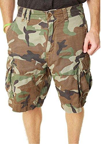 Polo Ralph Lauren Mens Camo Zipper Fly Cargo Shorts
