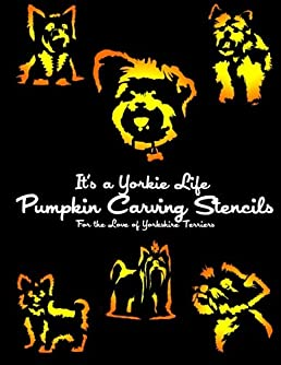 it s a yorkie life pumpkin carving stencils for the love of rh amazon co uk