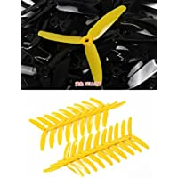 UUMART KingKong 5040 3-Blade Propellers (10 Pairs, 10CW, 10CCW) 5x4x3 Yellow Recommended Motor 1806(3-4S),2204(3-4S),2205(3-4S),2206(3-4S)