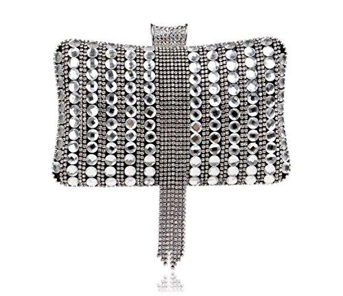Exquisite Banquet Diamonds Evening Bag Women's Handbag Black Handbag tzvxBPFwq