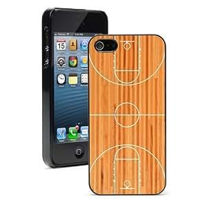 Apple iPhone 5c Hard Back Case Cover Color Basketball Court (Black)