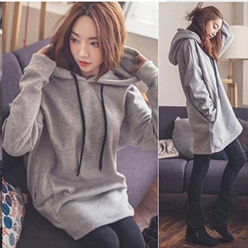 Iumer Womens Hooded Pullover Tops Sweatshirt Long Sleeve Sweater Hoodie Jumper Hooded Pullover Tops Blouse by IumerIU