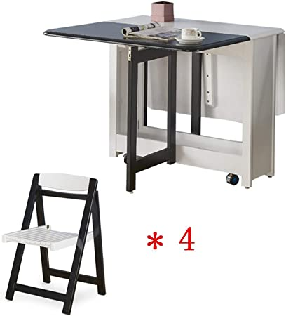 Tavolo E Sedie A Scomparsa.Xiaoyu Combinazione Di Tavolo E Sedia Pieghevole Multifunzionale