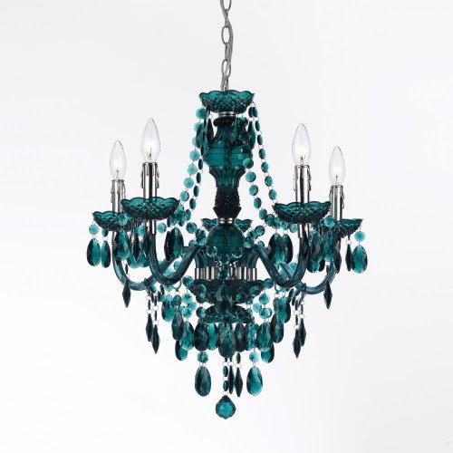 AF Lighting 8525-5H Fulton 5 Light Chandelier- Green