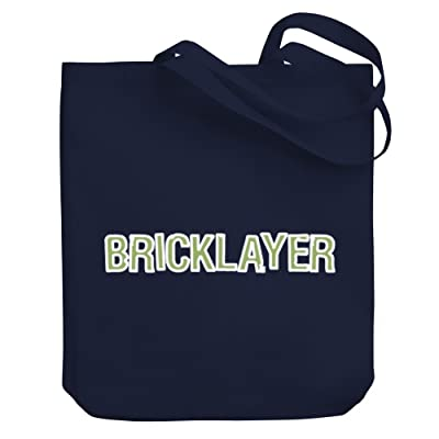 Teeburon Bricklayer Canvas Tote Bag