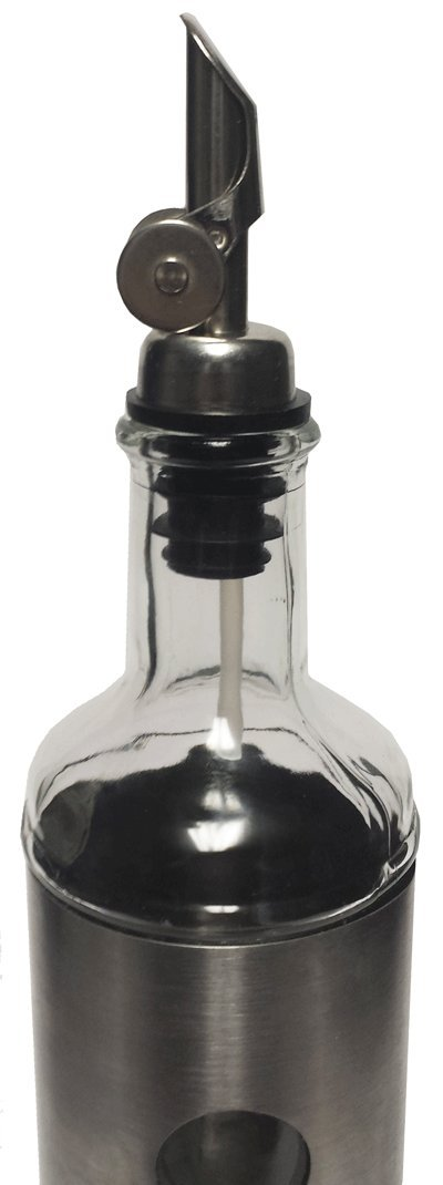 Weighted Stainless Steel Olive Oil Pourers, Pack of 12