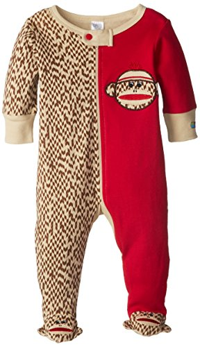 Sock Monkey Baby Clothing - Sozo Unisex-Baby Newborn Sock Monkey Footed