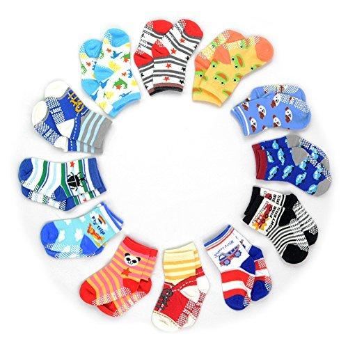 Review 12 Pairs Anti-slip Socks