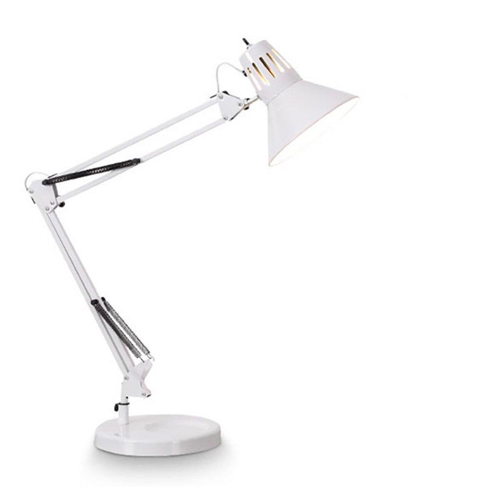 Verstellbare Eisen Lampe Schlafzimmer Wohnzimmer dekoriert Lampe Lesung Studie Lampe LED Tischleuchte schwarz weiß (Farbe   schwarz)