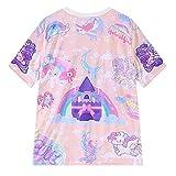 Women Cute Kawaii Tshirts Pink Unicorn Comic Print Harajuku Style Clothes Shirts