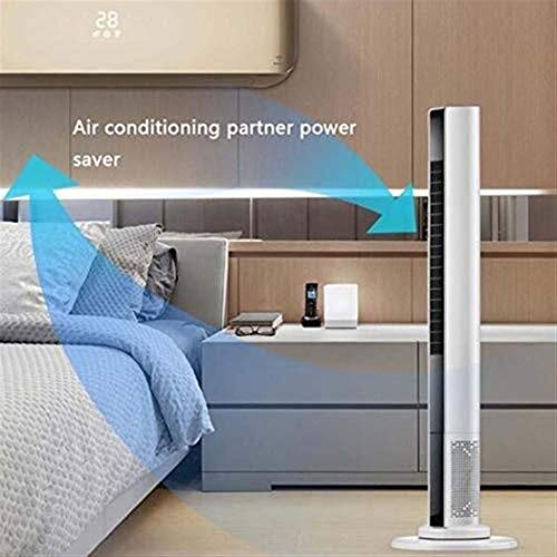 Betty 3-Speed 3-Wind Mode and Recirculation Fan 90CM Tower Fan, Fan with Remote Control, Ideal for Home and Office, White
