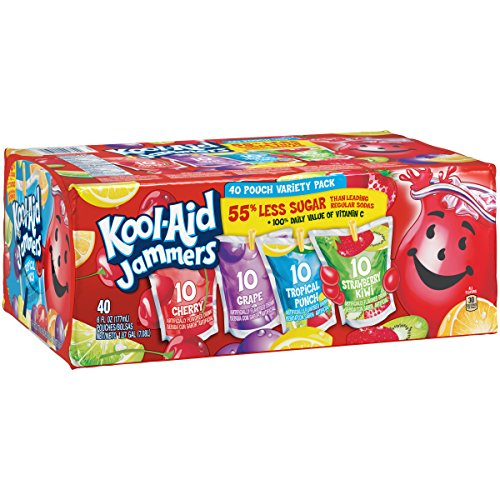 Juice Drinks - Kool Aid Jammers Variety Pack, 6 fl oz Pouches (Pack of 40)
