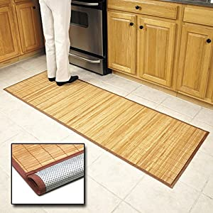 Amazon Com Bamboo Floor Mat 24 X 72 Kitchen Mats