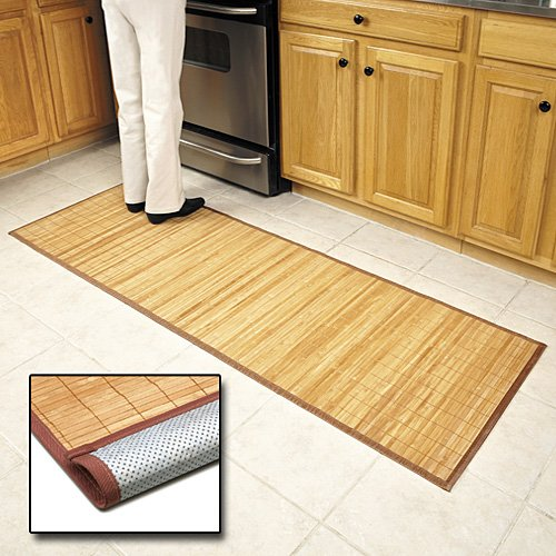 Amazon.com: Bamboo Floor Mat 24\'\' x 72\'\': Kitchen Mats: Kitchen & Dining