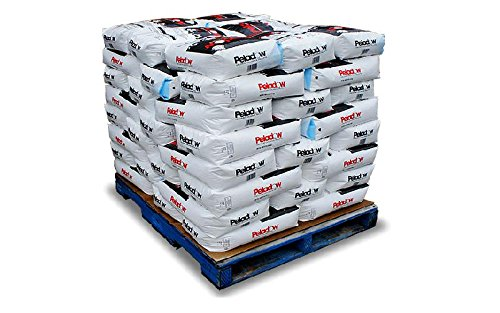 PELADOW Premium Calcium Chloride Snow & Ice Melt Pellets ALSO used for Dust Control on Dirt and Gravel Roads - 2500 lb Pallet by EcoClean Solutions