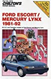 Chilton's Repair Manual: Ford Escort/Mercury Lynx 1981-92 (Chilton's Repair Manuals)