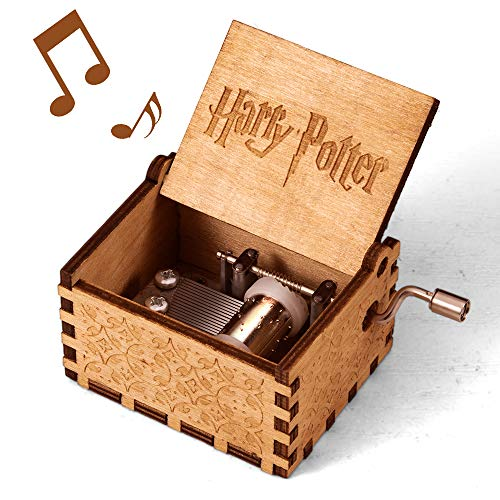 Harry Potter Music Box, Merchandise Vintage Classic Wood Hand Crank Carved Theme Best Gift for Kids, Boys, Girls, Friends