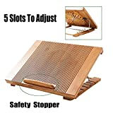 Laptop Cooling Pad Beaucoup Cooler Pad Laptop Desk Laptop Table Bamboo 100% Cooling Fan Stand for Laptops