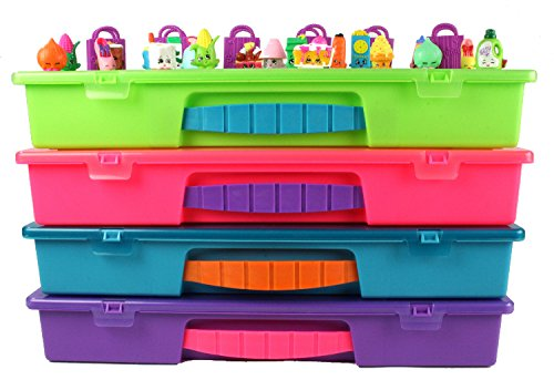 2 Person Movie Costumes (Shopkins Compatible Organizer - MyShoppin Bin Is The Perfect Shopkins Compatible Storage Box-Fits Up To 200 Characters,Up To 50 Shopping Bags and Baskets-Sturdy Case And Carrying Handle- (Strawberry/ Pink))