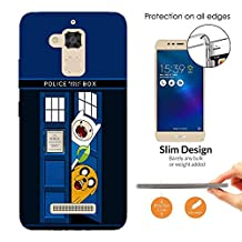 000248 - Doctor Who Tardis Call Box Adventure Funny Design Asus Zenfone 3 Max Fashion Trend CASE Ultra Slim Light Plastic 0.3MM All Edges Protection Case Cover-Clear