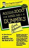 Access 2000 for Windows® for Dummies®, Alison Barrows, 0764504452