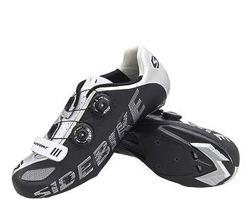 DUBAOBAO Zapatillas de Bicicleta, Zapatillas de Bicicleta de Nylon para Carretera, Zapatillas de Ciclismo Profesional para Hombre, diseño de Hebilla ...