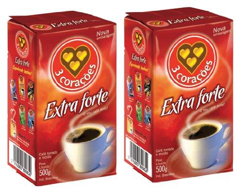 3 Corações Extraforte Coffee 500g    PACK OF 2
