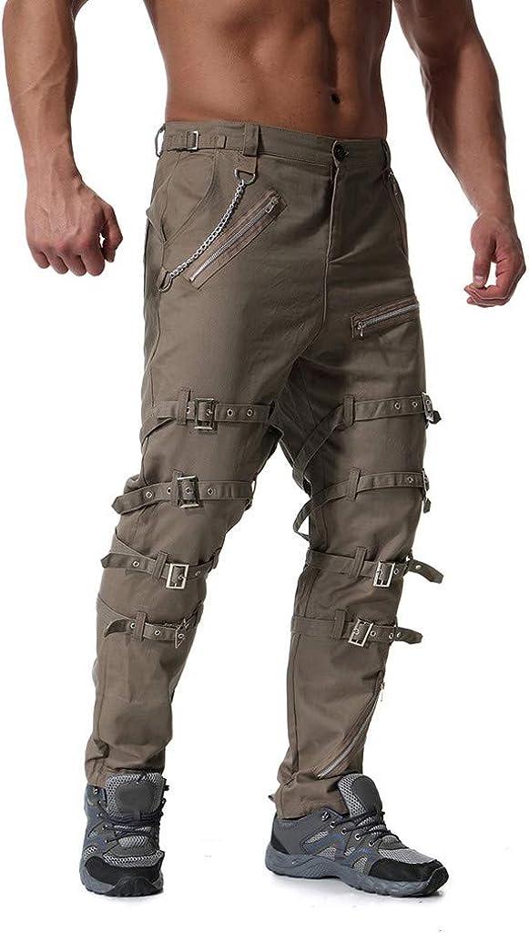 Ankola Casual Pants Mens Relaxed Fit Long Cargo Capri Pants