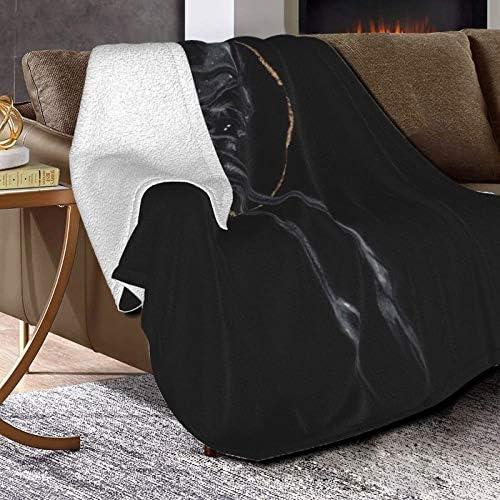Couverture polaire ultra douce et moelleuse pour lit et salon 127 x 101,6 cm