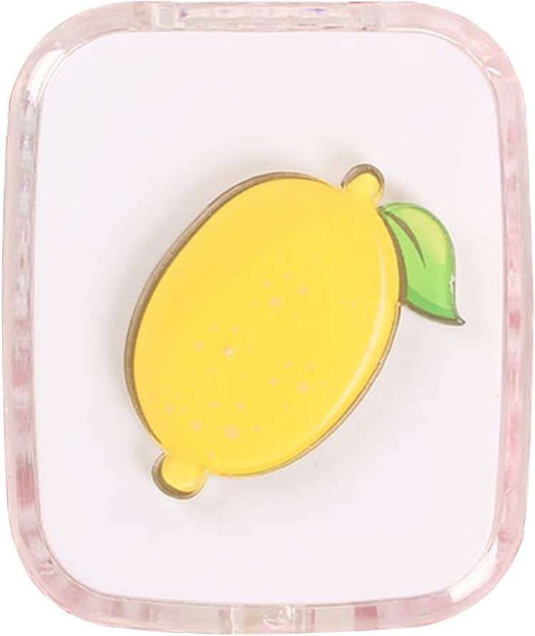 Drawihi Mini Caja de Lentes Viaje para Lentes de Contacto Twin Estuche para Gafas y lentillas Caja Portatil Lentillas Tamano de Bolsillo con para lentillas, para líquidos y Pinzas(Limón): Amazon.es: Coche y
