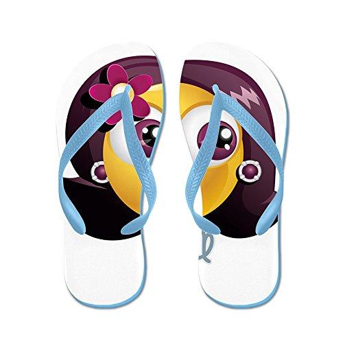 Rubber Smileyface Blue Sandals Mens Virgo Flip Caribbean Teague Truly Flops Zodiac xqXvnR8w6