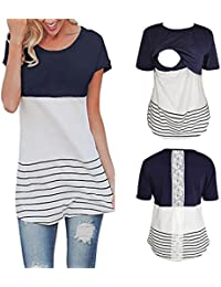 b3eef43f83b54 Lace Splice Pregnant Nursing Tank Top Baby Bump Tee Pajamas Double Layer Breastfeeding  Pregnancy Basic Top · Franterd Maternity Clothes