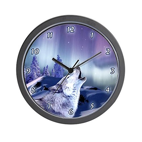 CafePress - Winter Wolf Wall Clock - Unique Decorative