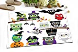 Cute Cartoon Owl Decoration Stylish Bath Rugs 3D Digital Printing 16x24 Inch Customized Personality Owls Halloween Dance Party Fancy Ball Outdoor Indoor Front Door Mat Non-slip Bath Mat