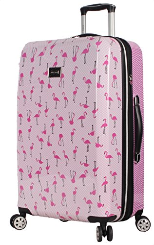 Betsey Johnson 26 Inch Checked Luggage Collection – Expandable Scratch Resistant (ABS + PC) Hardside Suitcase – Designer…